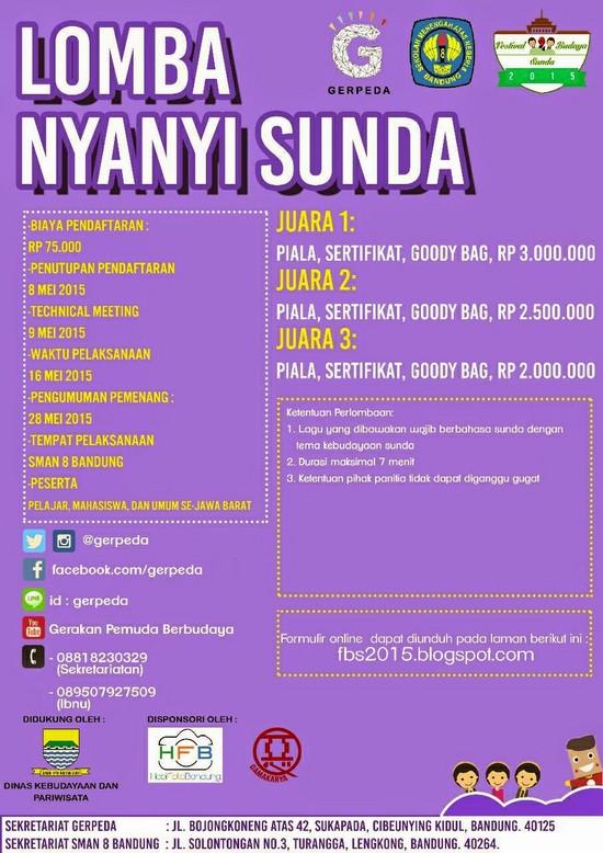 Lomba Nyanyi Sunda dina Féstival Budaya Sunda 2015