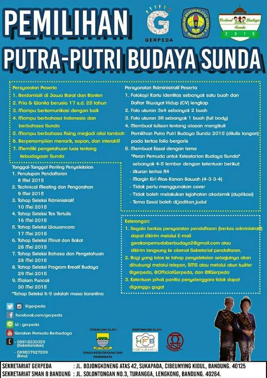 Pemilihan Putra-putri Budaya Sunda dina Féstival Budaya Sunda 2015