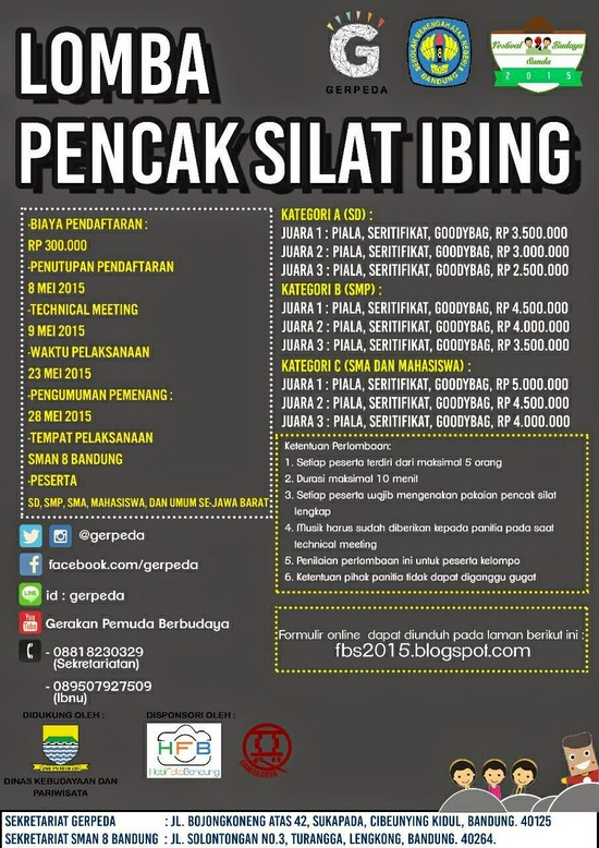 Lomba Pencak Silat Ibing dina Féstival Budaya Sunda 2015