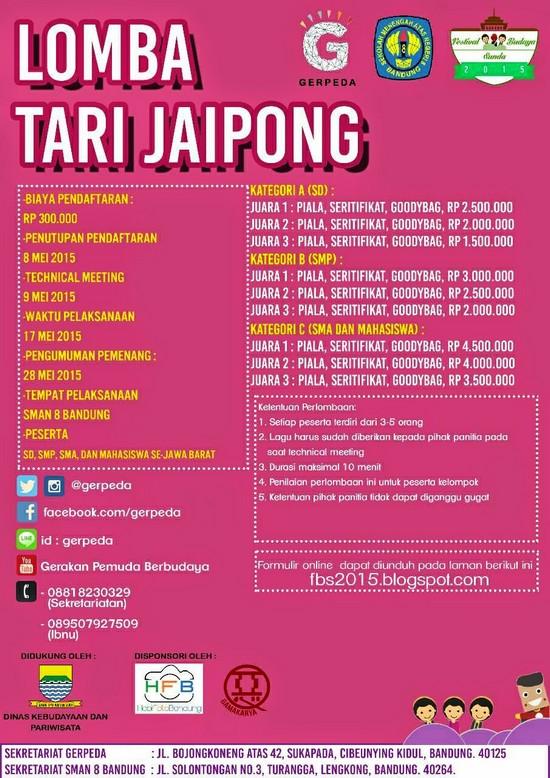 Lomba Tari Jaipong dina Féstival Budaya Sunda 2015