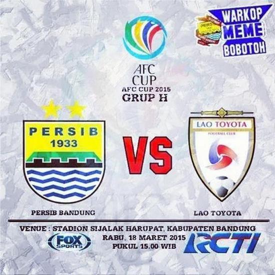 Pérsib Bandung Ngalawan Lao Toyota FC, hasilna 1-0 pikeun Persib Bandung