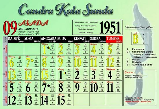 Ping 1 Suklapaksa Asada 1951 Candra Kala Sunda