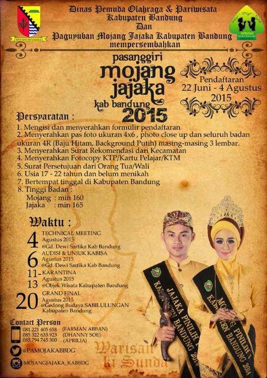 Pasanggiri Mojang Jajaka Kabupatén Bandung 2015