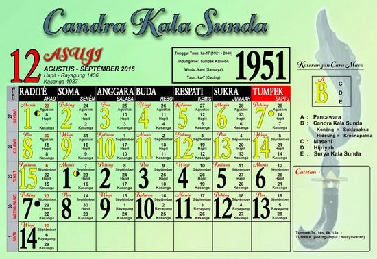 Ping 1 Suklapaksa Asuji 1951 Candra Kala Sunda