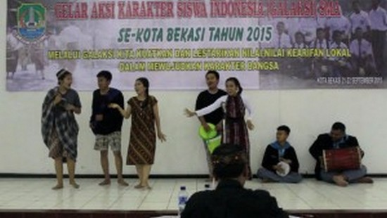 Pagelaran Seni Sunda Barudak Sakola di Bekasi