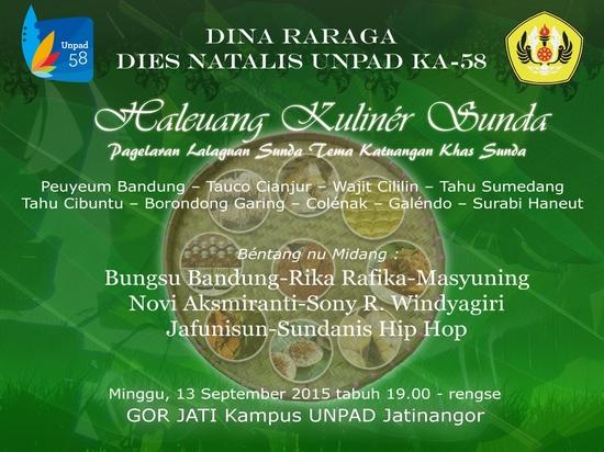 Pagelaran Haleuang Kuliner Sunda 2015