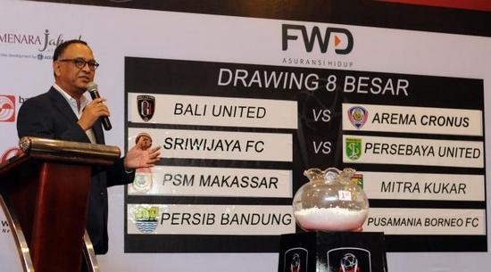 Hasil undian pikeun undakan parapatfinal Piala Presiden 2015