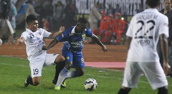 Persib Bandung ngelehkeun Bali United dina tatandang kamari