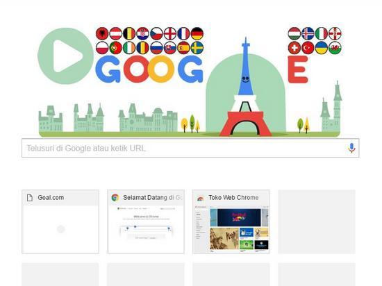 Poé Munggaran Piala Éropa 2016 di Google Doodle