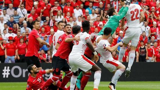 Swiss ngelehkeun Albania, 1-0