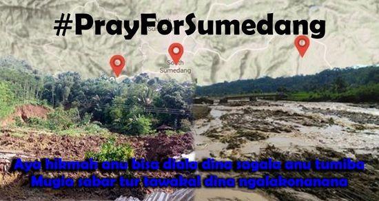 #PrayForSumedang, Ngadunga pikeun Sumedang